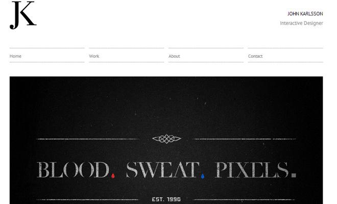john karlsson portfolio clean white website design