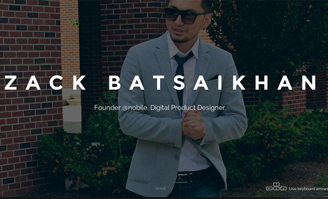 zack batsaikhan digital product designer website portfolio