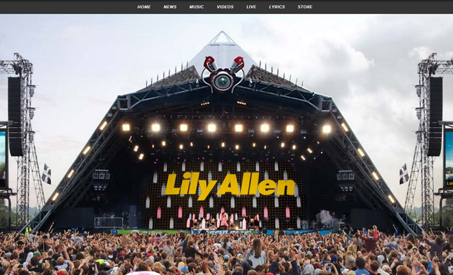 lily allen official performance website