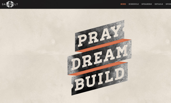 salt nashville conference website layout