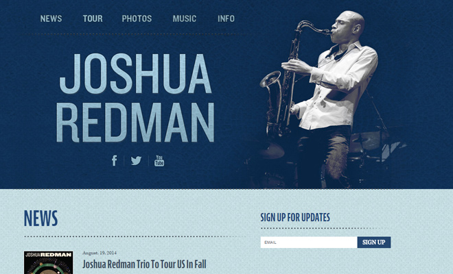 joshua redman personal musician website