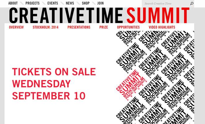 creative time summit website homepage