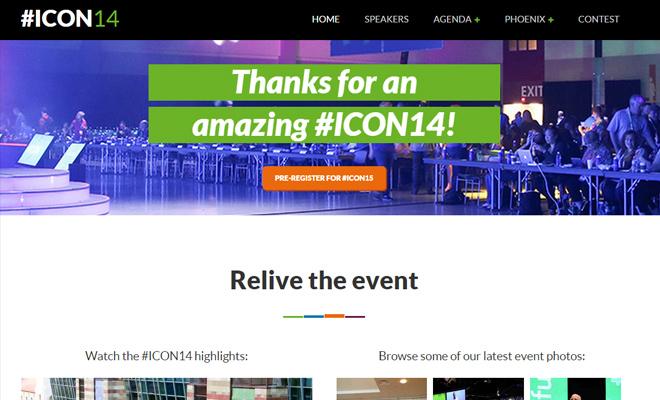 icon 2015 icon15 conference web design