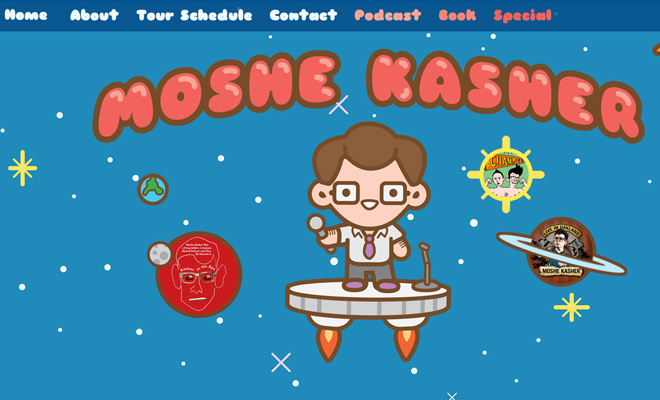 moshe kasher stand up comedian website