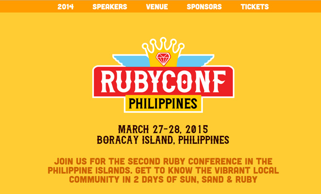 ruby conference rubyconf homepage