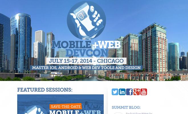 mobile web development conference website