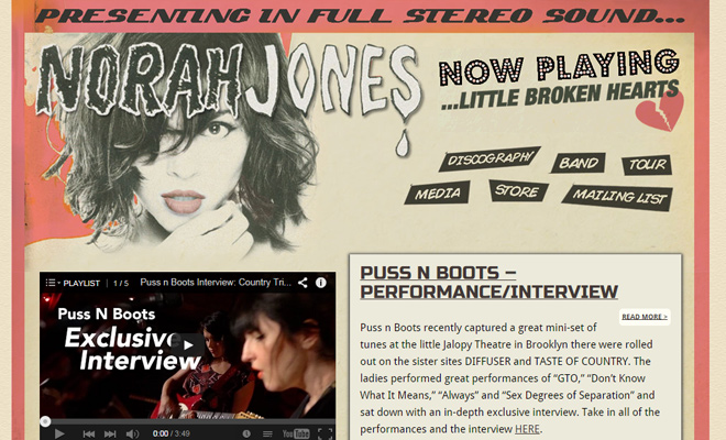 norah jones music musician personal website