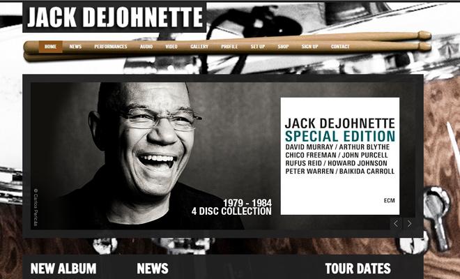 jack dejohnette personal website musician