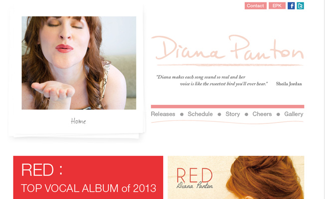 diana panton personal website layout