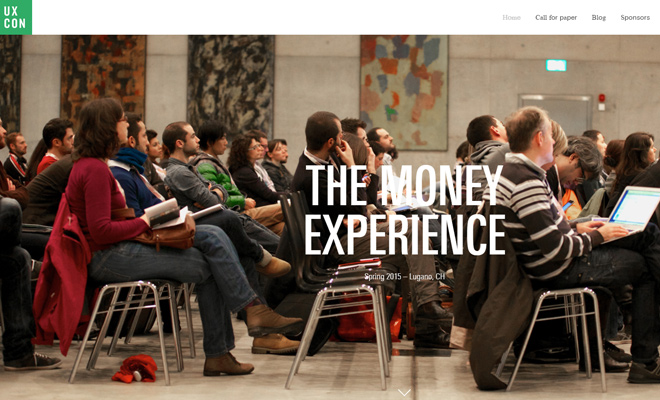 ux conference 2015 homepage layout