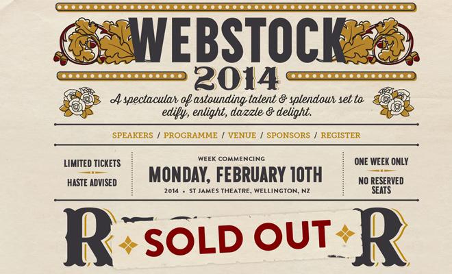 webstock conference 2014 website design
