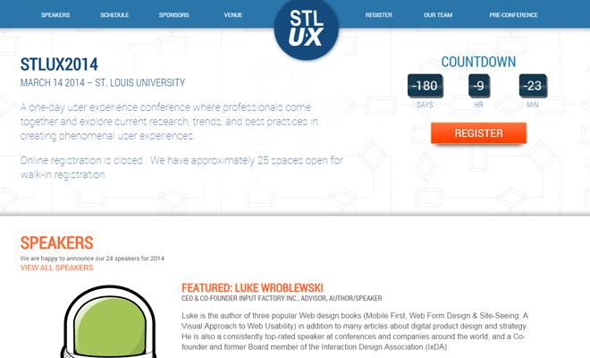 st louis ux conference 2014 website