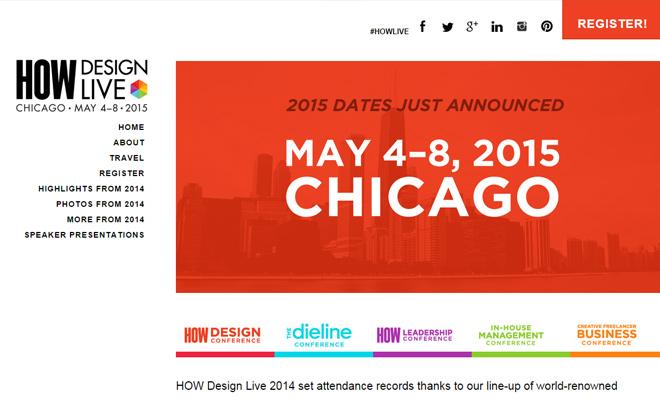how design live conference 2015 website