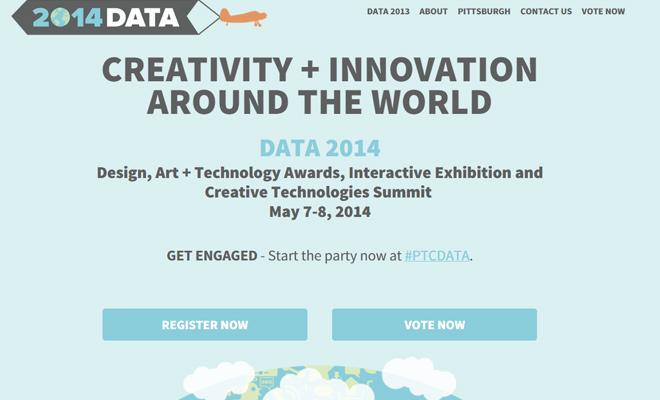 data 2014 conference design art technology awards website