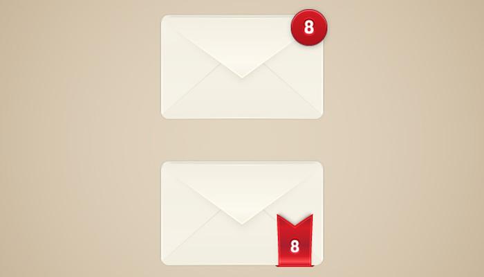 email alert box illustrator vector