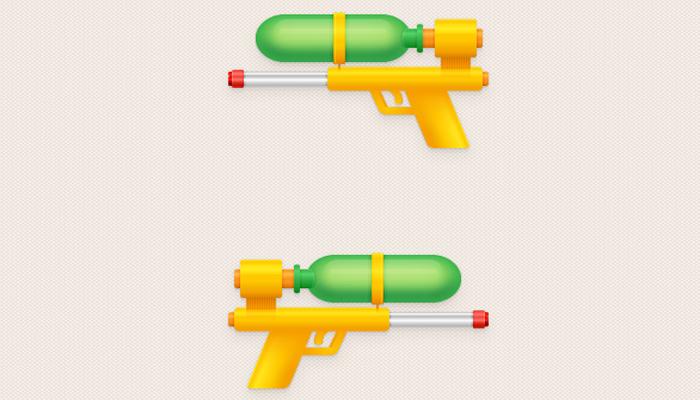 water pistol illustrator icon