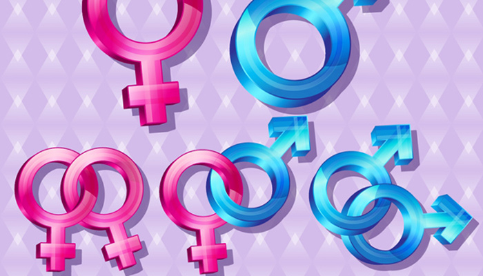 glossy gender symbol icons shapes