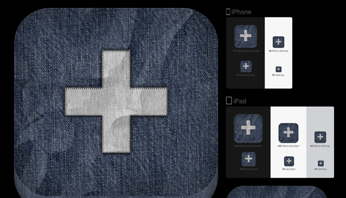 ios fabric icon design tutorial