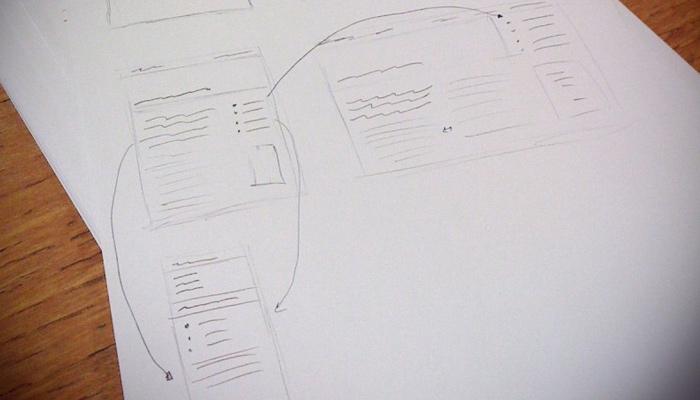 featured wireframe sketch mobile website responsive design