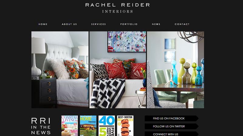 rachel reider interior design homepage