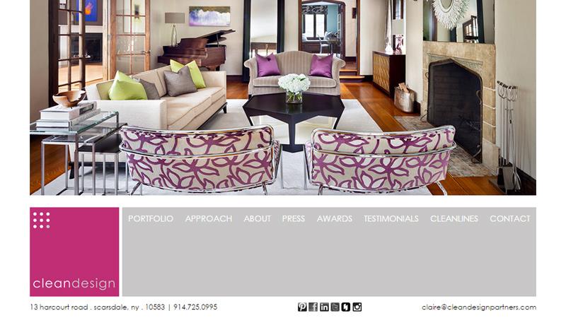 clean design interior partners website