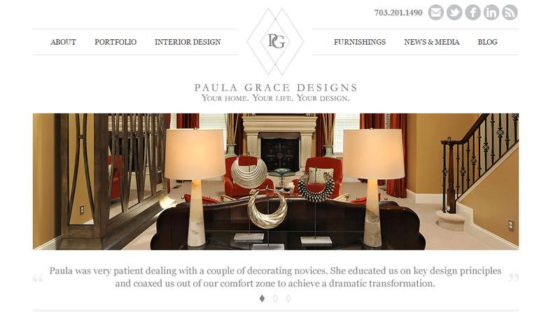 paula grace interior designs website