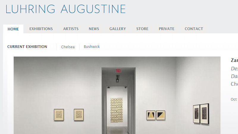luhring augustine art gallery website