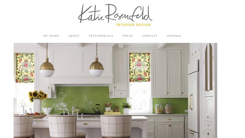 katie rosenfeld interior design homepage