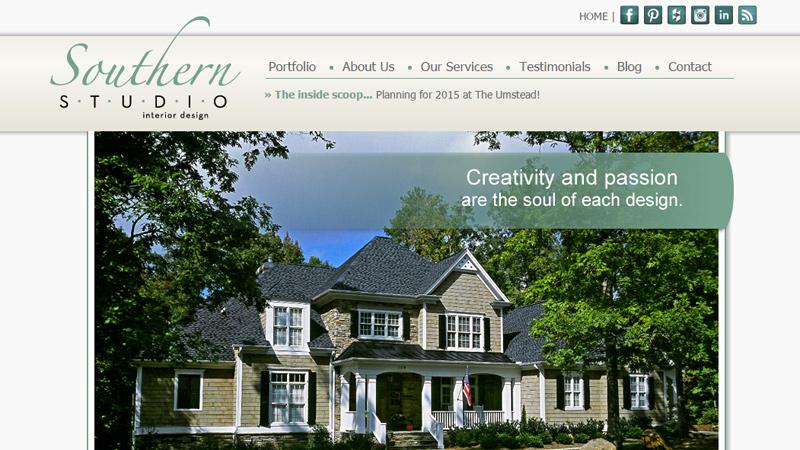 southern studio interior design homepage