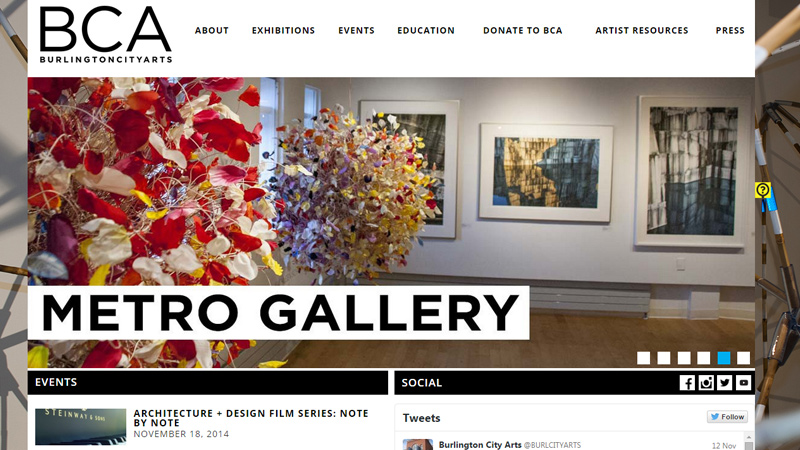 burlington vermont art museum website
