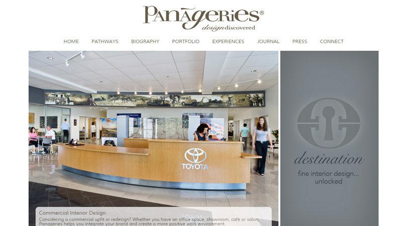 Panageries Interior Decorating Agency Website