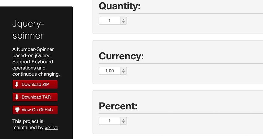 jquery number spinner input plugin
