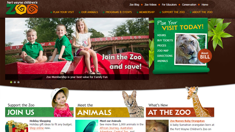 fort wayne children zoo dark website