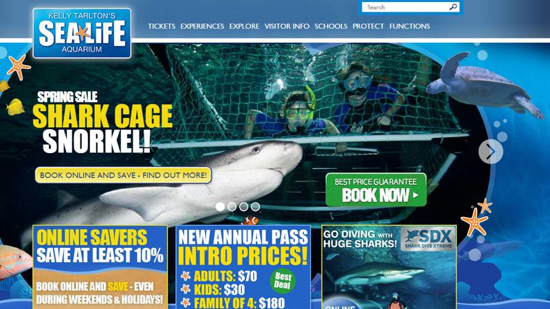 kelly tarlton sea life aquarium website