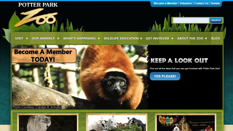 potter park zoo green simple layout