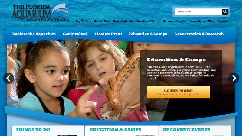 the blue florida aquarium website