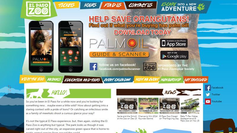el paso california zoo website design