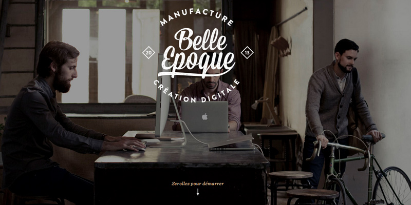 belle epoque website layout animation