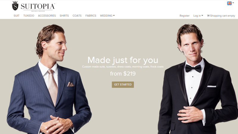 suitopia website inspiration design layout