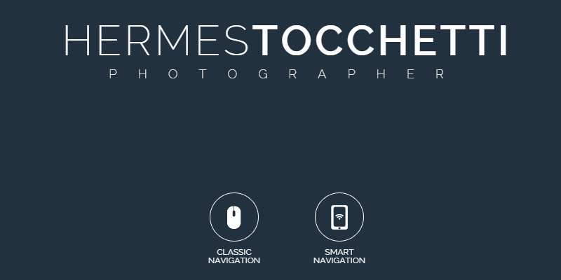hermes tocchetti website photography homepage