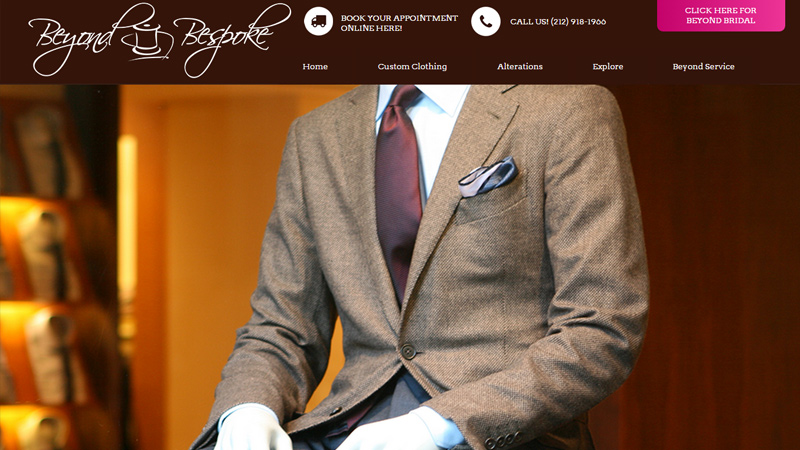 custom tailor suits beyond bespoke website