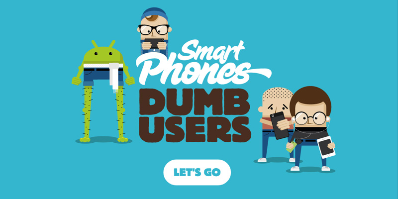 smart phones dumb users website homepage