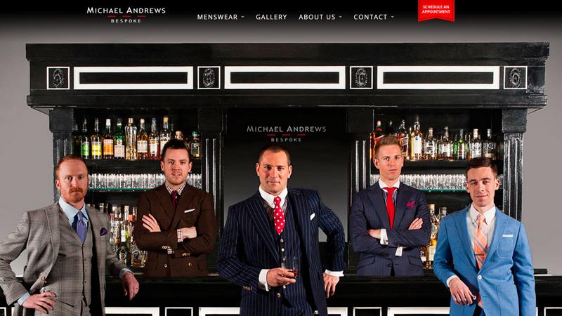 michael andrews bespoke tailor website