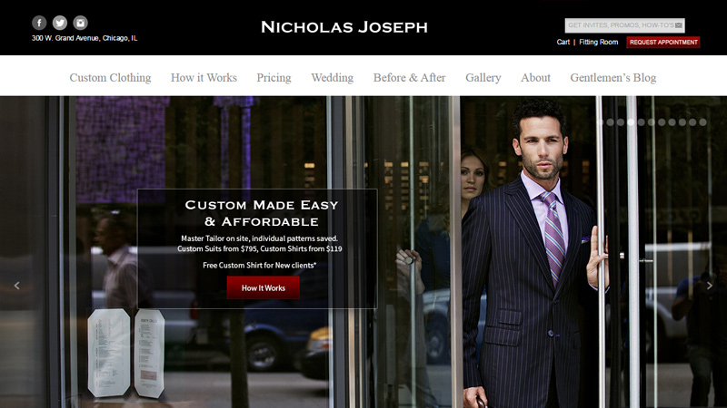 nicholas joseph dark website layout inspiration