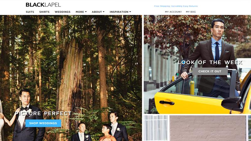 black lapel online tailor website company