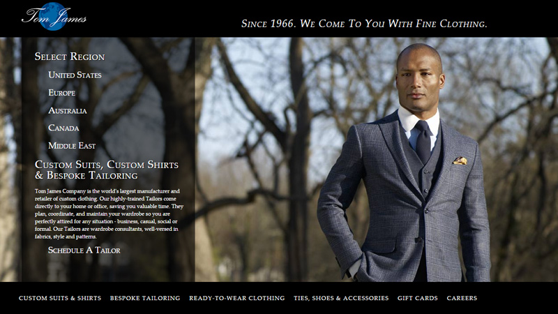 tom james personal website tailor