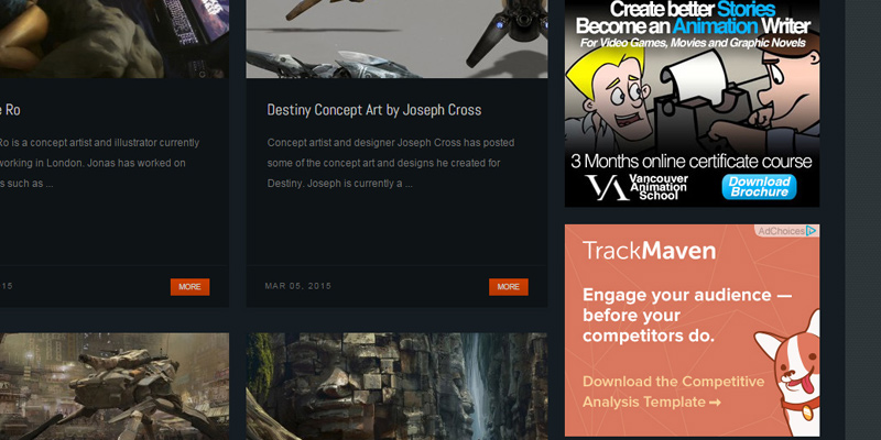 concept art world sidebar ads