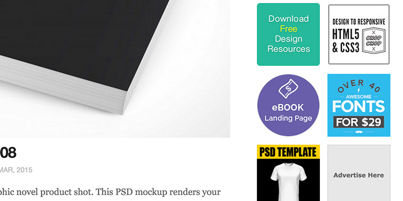 psd covers ads sidebar minimalism