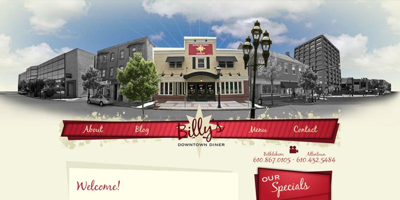 billys diner header parallax