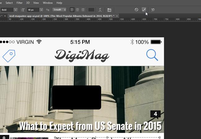 ctrl enter textbox photoshop
